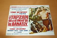 JOHNNY WEISSMULLER TARZAN VINTAGE 70s  LOBBY CARD 42x32cm