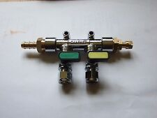 Gas Manifold 2 tap Straight 8mm inlet with Gas test point.