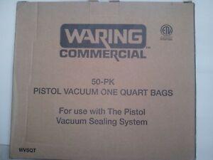 WARING WVSQT 1QUART BAGS 50 PACK FOR PISTOL VACUUM SYSTEM