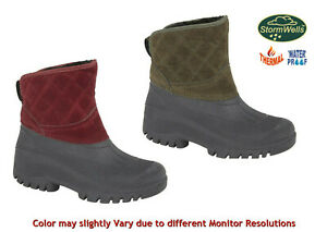 StormWells Womens Wellies Ankle Boots Faux Fur Lined Rain,Snow,Winter Boots