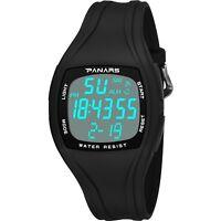 Sport Men's LED Digital Stopwatch Waterproof Detachable Square Dial Wrist Watch