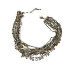 Chloe and Isabel Modern Torsade Necklace N228B Bronze Multi Strand Choker