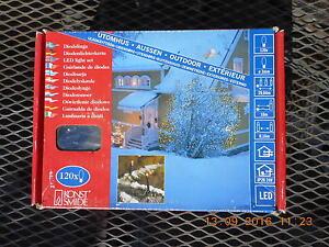 KONSTSMIDE 4439-203EE OUTDOOR SNOWFLAKE LIGHTS  NEW IN  BOX