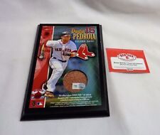 Fenway Park Boston Red Sox Dustin Pedroia Field Dirt Game Used Plaque 5x7 Size