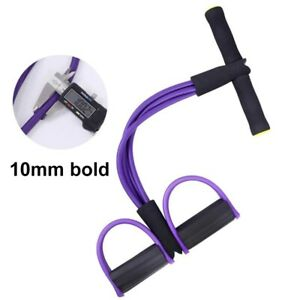 4 Resistanc Elastic Pull Ropes Exerciser Rower Belly Resistance Band Home Gym