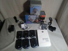 Lot of 6 Palm Pilot m130 Blue Handheld Pda and 2 Charging Docks