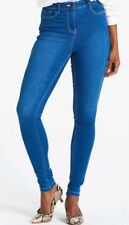 Simply Mid Blue Jeans High Waist Skinny Model Lucy UK 10 Jeggings