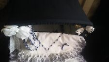 dolls pram silvercross vintage blue with bag and hand made blankets etc