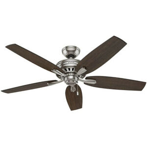 Hunter Fan Company 53321 Newsome 52 Inch Indoor Home Ceiling Fan, Brushed Nickel