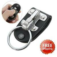 Quick Release Detachable Key Chain Stainless Steel Belt Clip Ring Holder Keyring