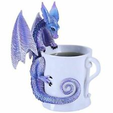 Purple Dragon on a Coffee Cup Figurine by Amy Brown