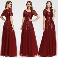 Ever-Pretty US Sequin Long Evening Prom Dress Formal Cocktail Wedding Party Gown