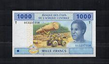 ETATS DE l'AFRIQUE CENTRALE CONGO billet de 1000 Frs PK N° 107T 2002 NEUF UNC