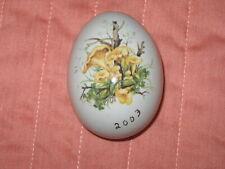 Decorative Ceramic Egg with Chantarelle Mushroom Woodland Transfer Pattern 2003