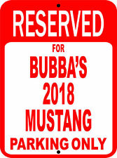 """Personalized Mustang Ford Novelty Reserved Parking Street Sign 9""""X12"""" Aluminum"""