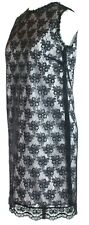 D&G Dolce Gabbana Dress Black Floral Lace Overlay Small UK 10 EU 38 RRP £720