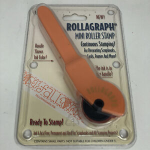 Vintage Rollagraph Mini Roller Stamp Fall Paula Best Design 2000 USA Made NEW