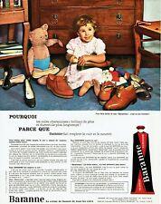 Publicité Advertising 099  1965 cirage chaussures Baranne baranniser