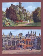 Oxford Colleges  by A.R.Quinton,   Oriel  and  Worcester   (Cottages)      AH997