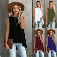 Women's Sexy Loose Vest Tops Lady Casual Party Sleeveless Blouse T-Shirts Tee