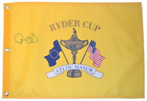 2010 RYDER CUP (Celtic Manor) - RORY MCILROY - SIGNED Screen Print GOLF FLAG