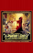 THE PHANTOM OF THE OPERA Movie POSTER 11x17 C Lon Chaney Sr. Norman Kerry Mary