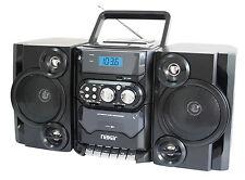 NEW NAXA PORTABLE MP3/CD AM/FM CASSETTE STEREO DETACHABLE SPEAKERS USB REMOTE
