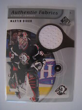 Martin Biron 2005-06 Upper Deck SP Game Used AUTHENTIC FABRICS JERSEY - WHITE
