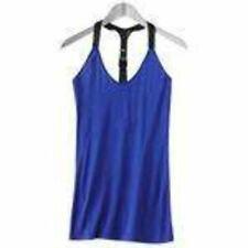 NEW Jr. Girls Womens Abbey Dawn Blue Biker Belted Racerback Tank Top Shirt-sz XS