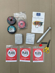 Lot Of Fly Fishing Items Wheatley Magnetic Fly Box Case Hardy Booklet