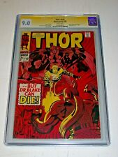 Thor #153 CGC 9.0 White Marvel 1968 Stan Lee Signature Series Book Length Begins