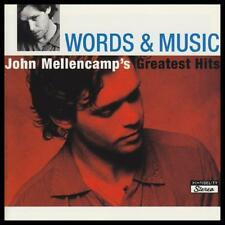 JOHN MELLENCAMP (2 CD) WORDS & MUSIC : GREATEST HITS ( JOHNNY COUGAR ) *NEW*