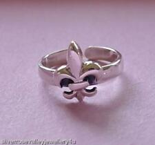 Ring Sterling Silver Fleur De Lis Toe