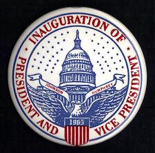 "1965 Lyndon Johnson & Hubert Humphrey 3-1/2"" / Inaugural Souvenir Button(Pin 01)"
