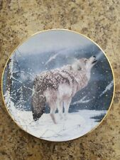 The hamilton collection plate By J.Tift Lone Wolf Edition Limited To 28.