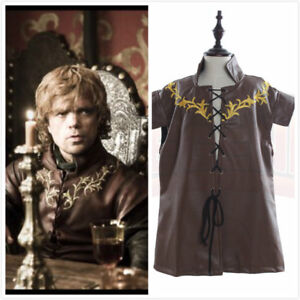 Game of Thrones Cosplay Tyrion Lannister Costume Halloween Cosplay Clothing