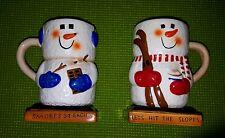 Set of Marshmallow Snowman Smores Mugs