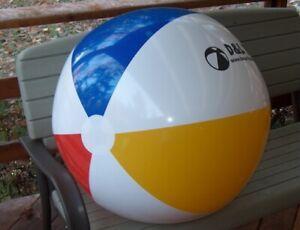 "36"" Classic D&L TOYS Inflatable LOGO Beach Ball, Glossy Vinyl POOL PARTY Fun!"