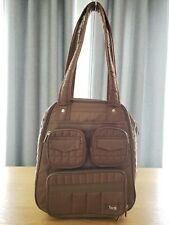 *EUC* LUG Puddle Jumper Brown Quilted Carry-on Overnight Tote Gym Baby Handbag
