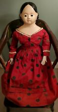"""23"""" Antique Pre-Greiner doll with Very Rare Glass Eyes!"""
