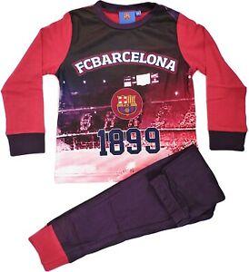FC Barcelona Official Football Gift Boys Pyjamas (3-4) Red