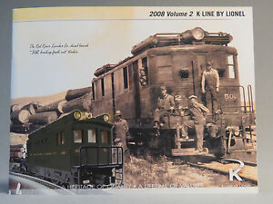 K-LINE BY LIONEL 2008 VOLUME 2 TRAIN book product CATALOG New Old Stock
