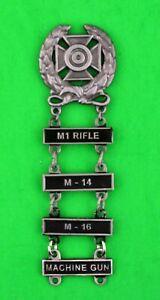 Army Expert Marksmanship Badge with M-1 RIFLE, M-14, M-16, & MACHINE GUN Bars