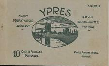 Vintage 1920 Ypres 10 Postcards Before During and After The War