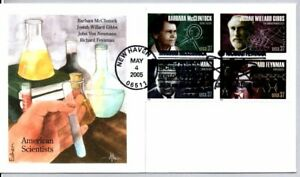 #3906-3909 AMERICAN SCIENTISTS STAMPS COMBO EDKEN FDC, RICHARD FEYNMAN