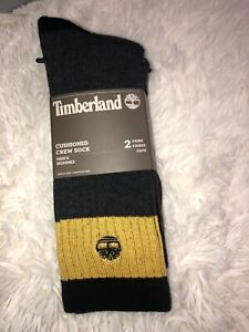 Timberland Mens 2-Pack Boot, Brand, ReLief, Comfort Welt Crew Socks One Size
