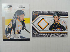 Cody Franson 2009/10 Rookie Materials Jersey Card & Gold UD Victory RC Sabres