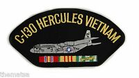 "C-130 HERCULES VIETNAM VETERAN EMBROIDERED 6"" SERVICE RIBBON MILITARY  PATCH"