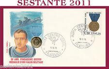 ITALIA FDC ROMA MEDAGLIE D'ORO AL VALOR MILITARE 1973  ANNULLO ROMA G444