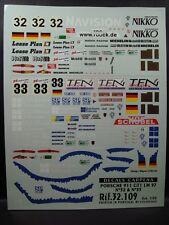 """DECALS 1/32 PORSCHE 911 GT1 #32 """"NAVISION"""" + #33 """"TFN"""" LM 1997- CARPENA  32109"""